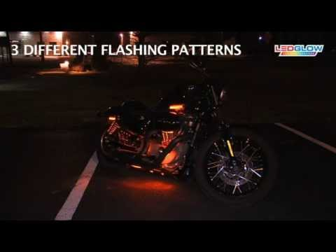Orange LED Flexible Motorcycle Lighting Kit