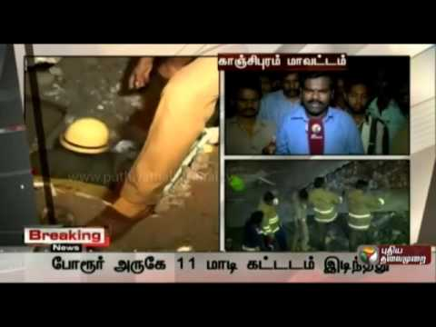 Chennai 11 Storey Building collapsed - 3 dead ; 50 trapped