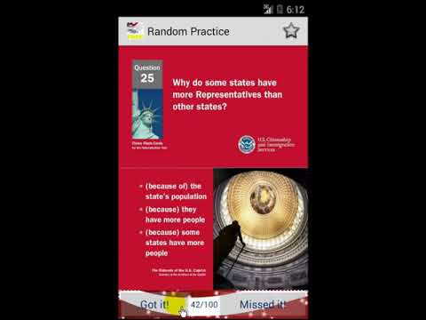 Random Reading All 100 Questions for US Citizenship Naturalization Test 2015