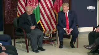 President Trump Holds a Bilateral Meeting with President Ghani of Afghanistan