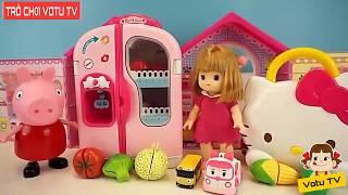 Trò chơi trẻ em VOTU TV Chị em Peppa rửa hoa quả và nấu ăn