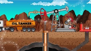 Petroleum Mining Factory Build - Gasoline Hunt Oil Tycoon Sim - Fun Games For Boys