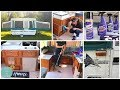 POP UP CAMPER MAKEOVER | DAY 1 TOUR CLEAN WITH ME | REMODEL STARCRAFT CAMPING | SUPER CLEAN closed