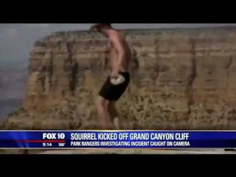 Grand Canyon squirrel-kicking video