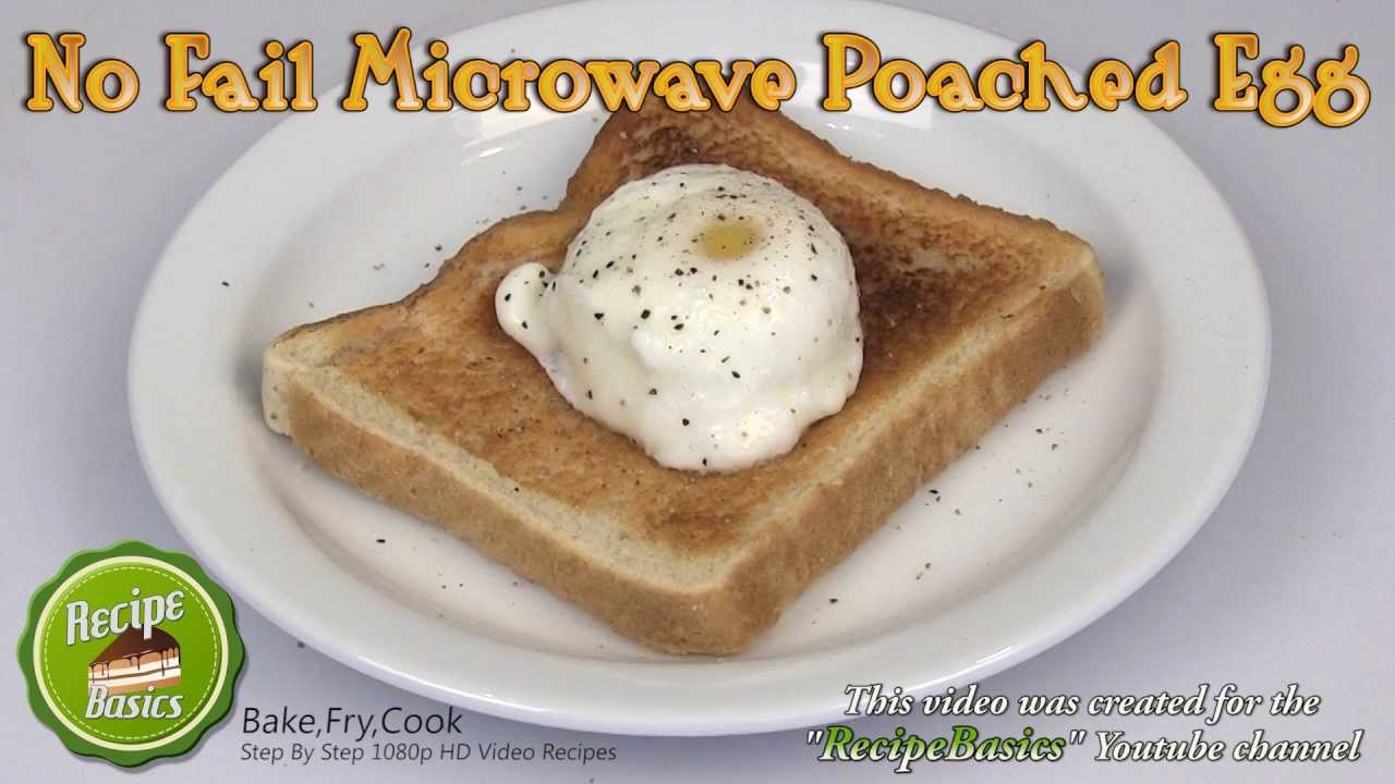 NO Fail Microwave Poached Egg Recipe - YouTube