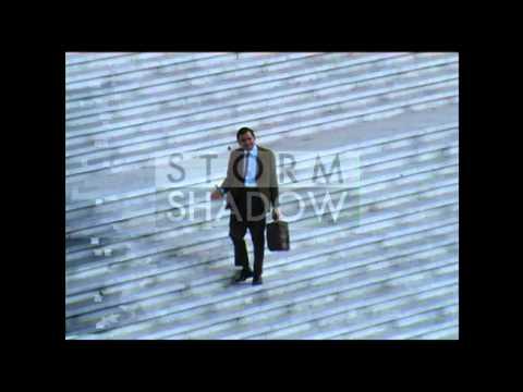 Rowan Atkinson On The Set Of  Mr. Bean's Holiday  In Paris - La Défense video