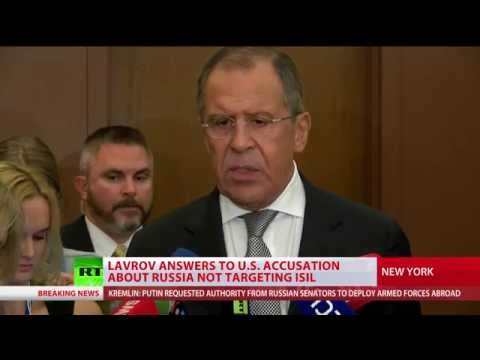 Lavrov refutes accusations that Russian airstrikes did not target ISIS