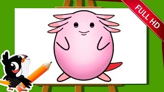Learn How To Draw A Pokemon Chansey For Kids | Pokemon Chansey Drawing | Easy Step By Step Drawing
