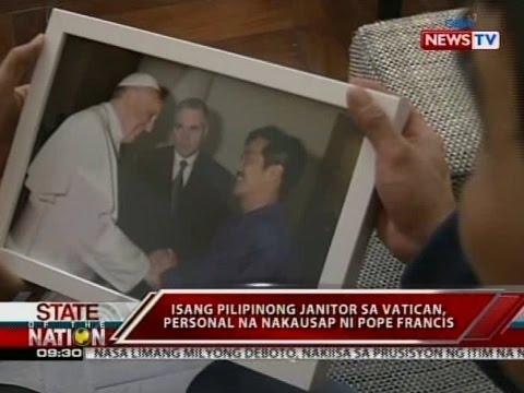 SONA: 1 Pilipinong janitor sa Vatican, personal na nakausap si Pope Francis