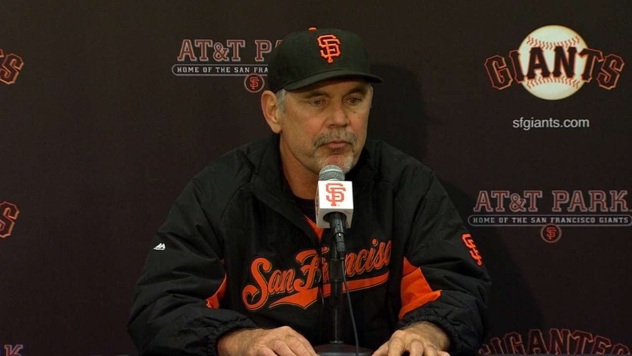 COL@SF: Bochy on Hudson's outing, bullpen in 8-6 loss