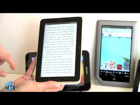 "7"" Tablets Smackdown: Kindle Fire, Nook Tablet, Samsung Galaxy Tab 7.0 Plus and HTC Flyer"