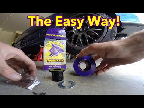 How to replace lower control arm bushings on an e36 (Without special tools)