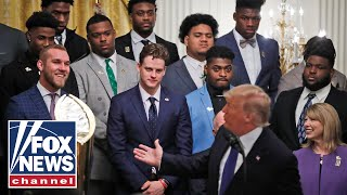 Trump honors national champion LSU Tigers at White House