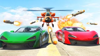 1,000,000 MISSILES vs. FAST SUPERCARS! (GTA 5 Funny Moments)