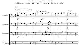 Jesus Loves Me - Trombone Quartet - Arr. by Clark Cothern (1957 -  ) [BMI]