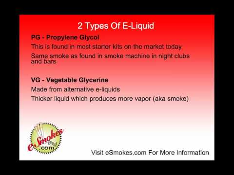 What Is The E-Liquid Found In Electronic Cigarettes