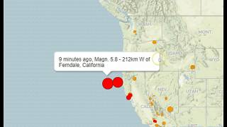 Strong 5.8 Earthquake Strikes Off California