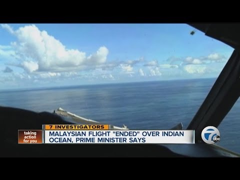 Malaysian flight ended over Indian Ocean, prime minister says