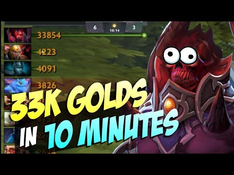 33K GOLDS IN 10 MINUTES - New Bug Shadow Demon 7.06 | Dota 2