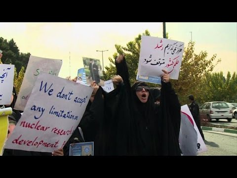 Tehran hardliners protest nuclear deal