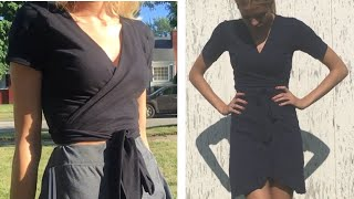 How to Turn a T Shirt Into a Wrap Shirt or dress