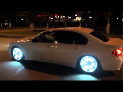 Cool Car Bmw With Neon Rims Youtube
