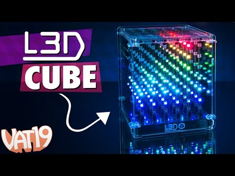 L3D Cube Lamp: 3D Array of 216 Multi-Color LEDs