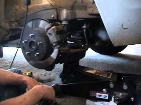 How to Change Replace Rear Brake Pads on a 2008 08 Toyota RAV4 RAV 4 DIY Tutorial Install Fix