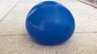 Trying to pop  a water balloon