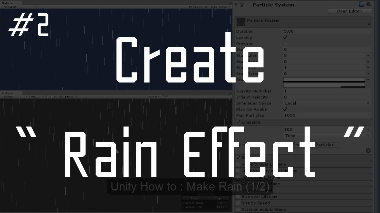 unity how to add rain