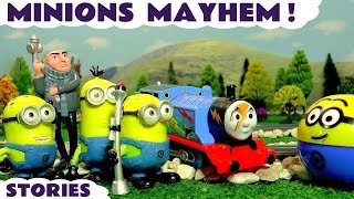 Minions funny compilation with Despicable Me Gru Thomas and Friends Toy Trains and superheroes TT4U
