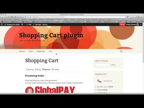 WordPress Shopping Cart with GlobalPay (Zenith Bank)