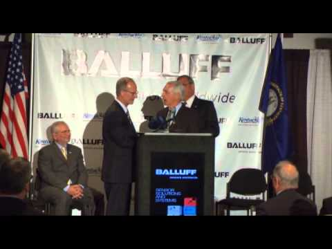 Balluff Groundbreaking with Governor Steve Beshear - April 11, 2013 (full version)