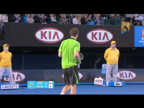 Andy Murray Great Point vs David Ferrer (Australian Open 2011) HD