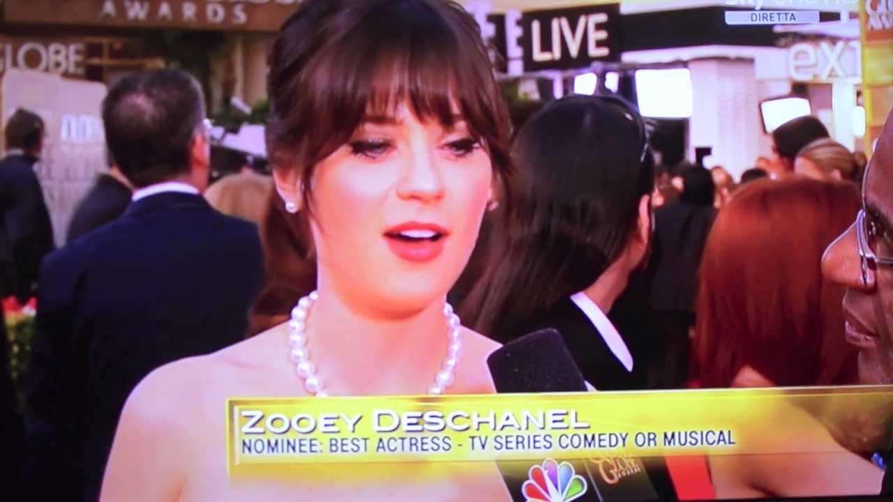 Zooey Deschanel Golden Globes 2013 Zooey Deschanel  Red Carpet