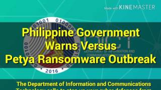 Philippine Government Warns vs. Petya Ransomware Outbreak