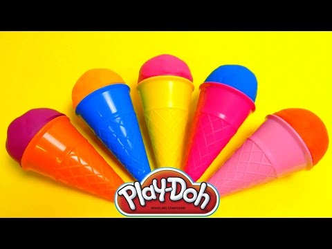 Play-Doh Ice Cream Cone Surprise Eggs & Cupcakes Mega Compil