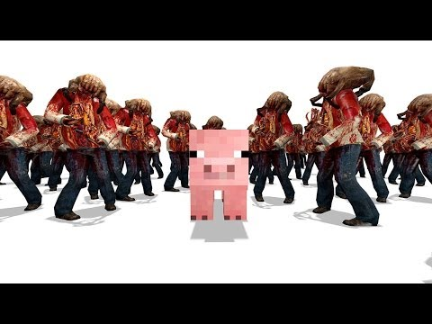 Zombie Swarm | Protect Minecraft's pig
