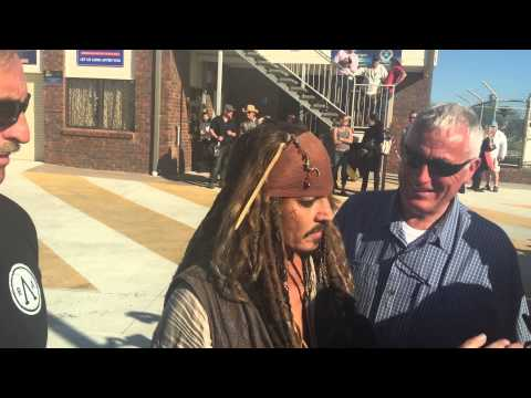 Johnny Depp in Cleveland Australia 2015 -