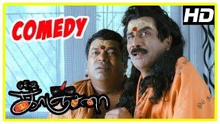 Kanchana | Tamil Movie Comedy | Part 2 | Raghava Lawrence | Kovai Sarala | Devadarshini | Muni 2