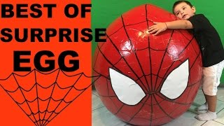 BEST OF SURPRISE EGG 6 COMPILATION WITH SPIDERMAN EGG,DISNEY PIXAR CARS,HOT WHEELS,MICKEY MOUSE