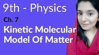 Matric part 1, Kinetic Molecular Model of Matter - ch 7 Properties & Matter - 9th Class Physics
