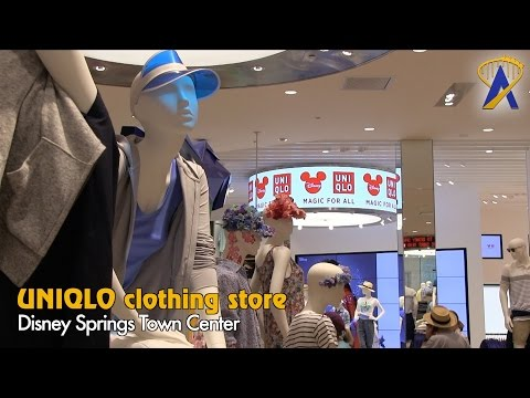 UNIQLO store tour at Disney Springs Town Center
