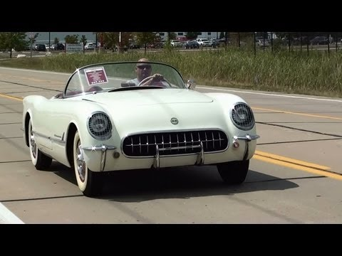 Test Driving 1954 Chevrolet Corvette 235 Blue Flame Six Triple Carbs