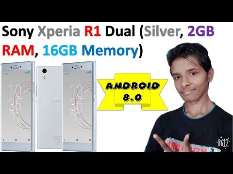 Sony Xperia R1 Dual (Silver, 2GB RAM, 16GB Memory) | Android 8.0 Oreo Operating System