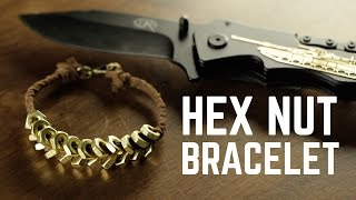 DIY projects - Hex Nut bracelet