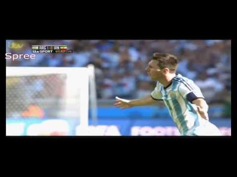 Messi's Goal Against Iran | (English) | World Cup 2014