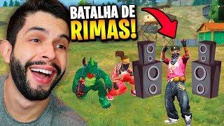 VIREI MC?!? FIZ A PRIMEIRA BATALHA DE RIMAS DO FREE FIRE!