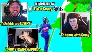COURAGE *FURIOUS* w/FaZe CLAN after THIS! FaZe SWAY *REVEALS* NEW Settings! FaZe BUGHA? (Fortnite)