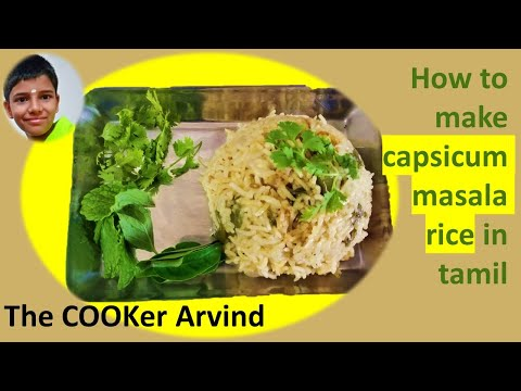 Capsicum masala rice(The COOKer Arvind)